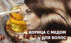 корица с медом для волос