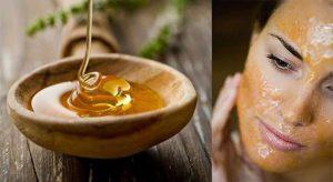 маска для губ из меда