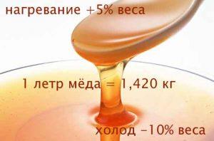 сколько весит 100 грамм меда