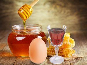маска для волос с медом, коньяком и яйцом