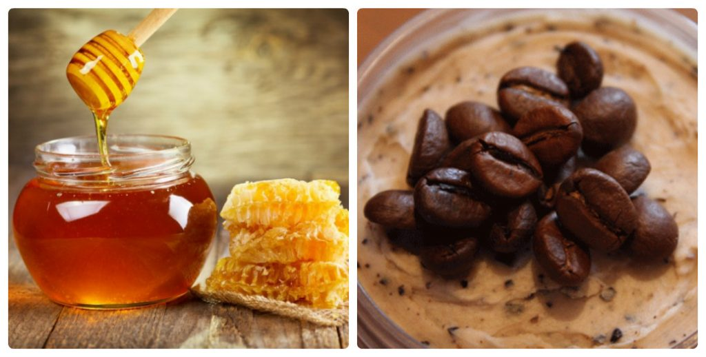 скраб для лица из кофе и меда