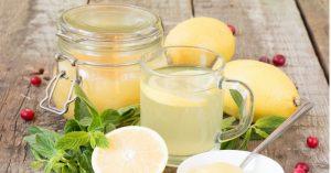 вода с лимоном и медом