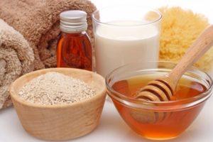 соль, мед, молоко для тела
