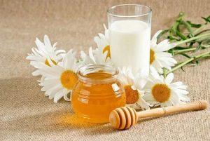 молоко с маслом и медом от кашля