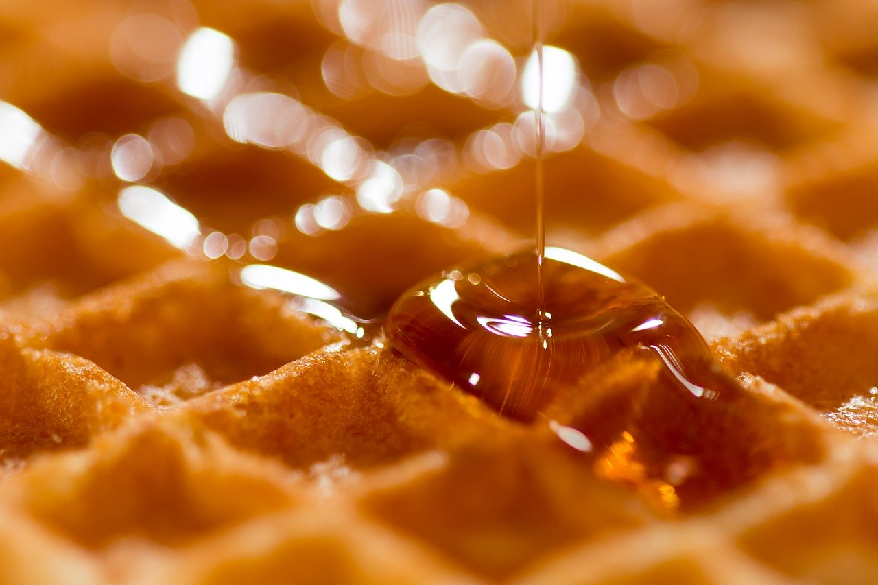 Мед на вафле