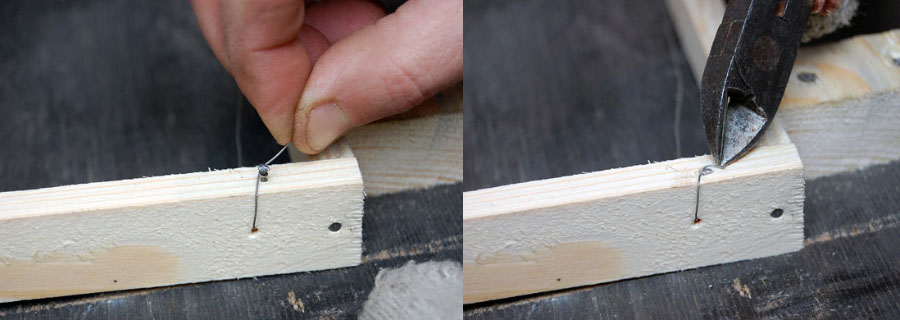 В традиционных деревянных конструкциях используется стальная проволока