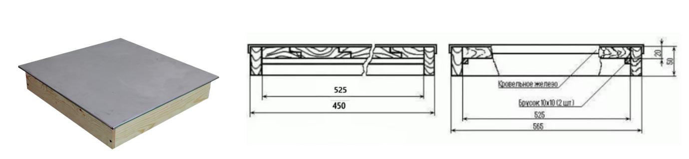 Размеры крыши дадановского улья