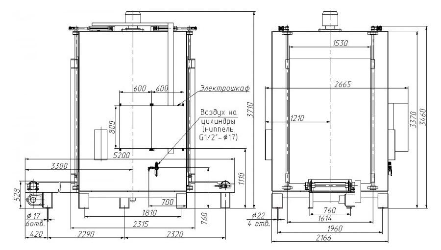 Подробный чертеж термокамеры