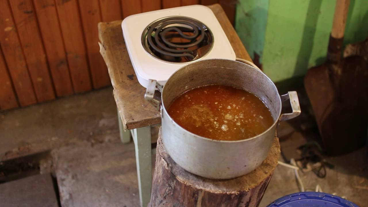 Как топить воск на водяной бане